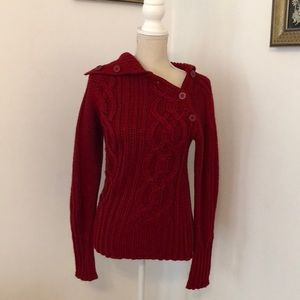 Red sweater by Zara